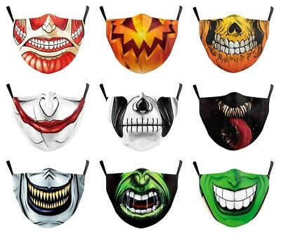 $ CDN15.99 • Buy Adult Protective PM2.5 Filters Washable Halloween Monster Joker Face Mouth Masks