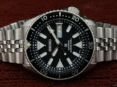 $ CDN2.97 • Buy Seiko Diver 7s26-0020 Skx007 Stunning Black Airdiver Prospex Automatic Watch 831