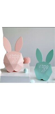 AU39.95 • Buy Childrens Rabbit Led Clock With Night Light