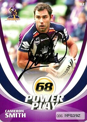 AU29.99 • Buy ✺Signed✺ 2013 MELBOURNE STORM NRL Card CAMERON SMITH Power Play