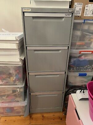 AU70 • Buy Elite Built Filing Cabinet - Grey - 4 Drawer With Lock And Key -Pick Up Hawthorn