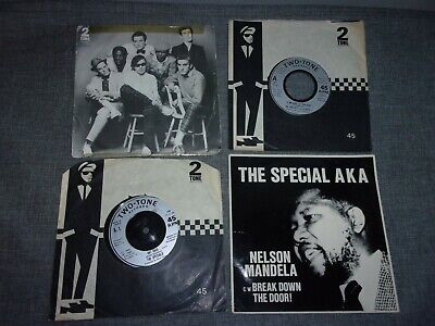 4 X The Specials 7  Vinyl Record Joblot Two Tone Rat Race / Do Nothing / Message • 13.99£