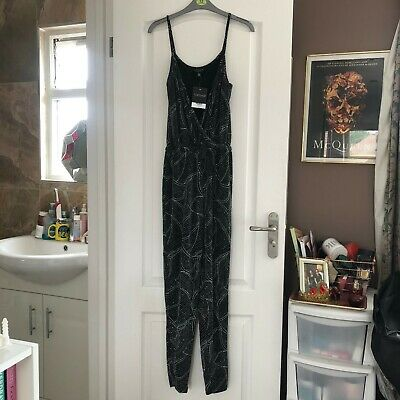 Silver And Black Glitter Topshop Jumpsuit, Size 8 • 5£