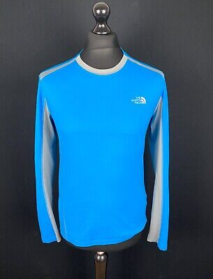 £17.89 • Buy The North Face Flash Dry Long Sleeve Base Layer Shirt Men's Size S Blue Jersey