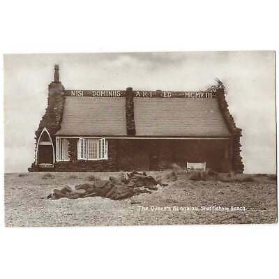 SNETTISHAM BEACH Queen's Bungalow, RP Postcard Postally Used 1908 • 5.95£