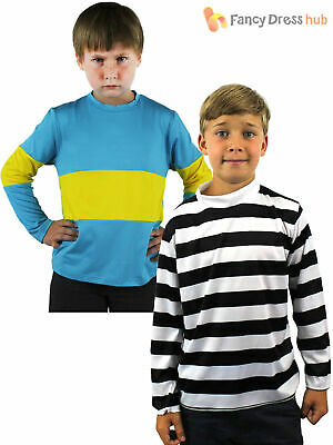 Childrens Burglar Pirate Top Kids Naughty Boy Fancy Dress Girl Boys Book Week • 4.99£