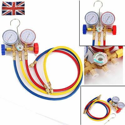 Refrigeration Air Conditioning AC Diagnostic Testing Manifold Gauge Tool Set UK • 16.46£