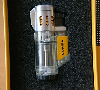COHIBA Exquisite 3 TORCH JET FLAME CIGAR CIGARETTE LIGHTER #5Z • 12.50£