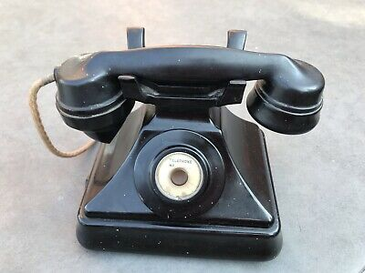 1930's Pyramid Bakelite Telephone Made By Siemens Brothers London.mint • 60£