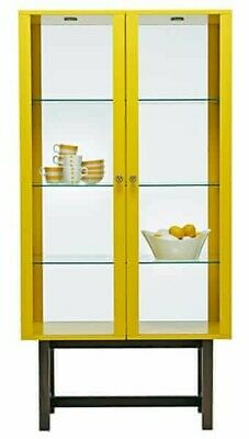 Ikea Stockholm Yellow Display Cabinet With Glass Doors And Solid Ash Legs • 15.01£