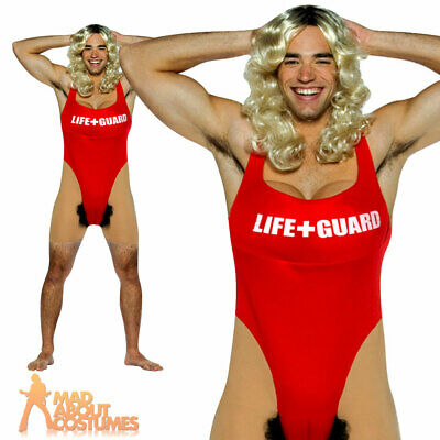 £22.99 • Buy Adult Mens Anita Waxin Costume Bay Watch Lifeguard Funny Stag Fancy Dress Outfit