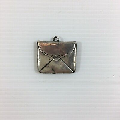 Antique 1904 Envelope Shaped Sterling Silver Stamp Case / Box 3cm In Width  • 49£