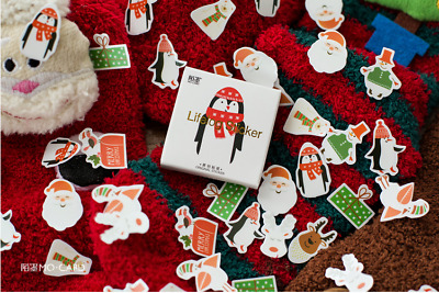 £3.10 • Buy 48pcs Christmas Theme Stickers For Children's Crafts Cardmaking Scrapbooking