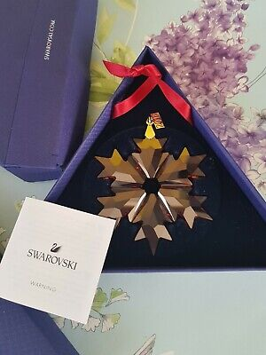 RARE Swarovski Christmas Holiday 2018 Red Snowflake Star Tree Ornament 5460487 • 40£