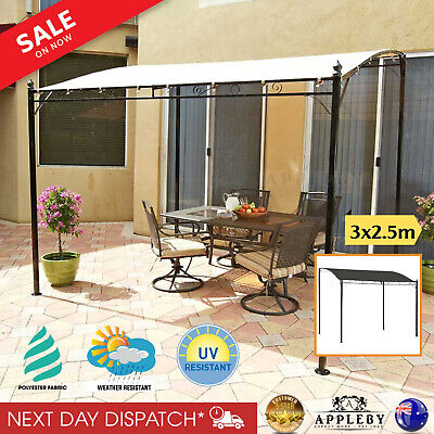 AU195.24 • Buy Outdoor Canopy Gazebo Party Sunshade Marquee Awning Shelter Cream White 3x2.5M