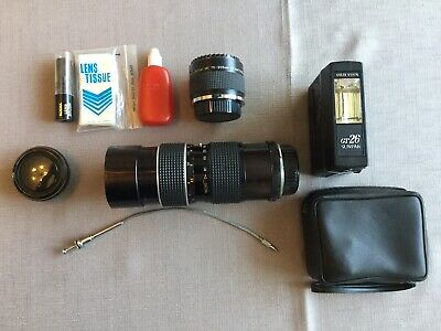 Old School Camera Parts Zoom Lens Multiplier Flash Plus Extras • 15£
