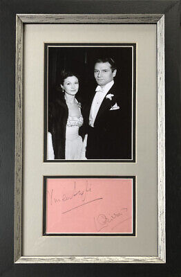 Vivien Leigh And Laurence Olivier Signed And Framed Autograph • 195£