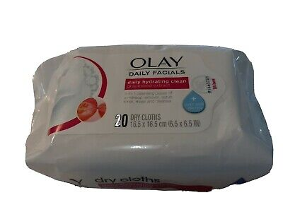 AU17.25 • Buy Olay Daily Facials Daily Hydrating Clean 20 Dry Cloths W/soap Add Just Water New