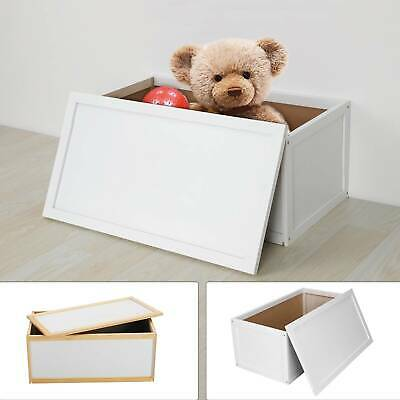Wooden Toy Box Storage Unit Childrens Kids Chest Toyboxes Strong Toybox • 25.99£