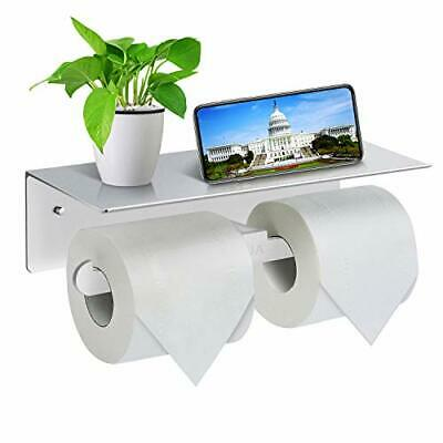 Toilet Roll Holder-Wall Mounted Toilet Paper Roll Holder, Double Rolls Tissue • 17.99£