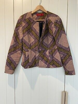AU45 • Buy Tigerlily Winter Jacket Mauve Pink Stitching Detail With Pockets Size 10 EUC