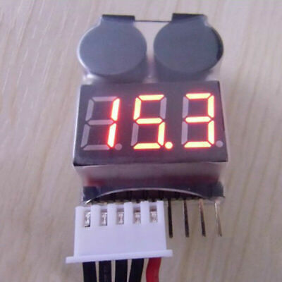 £1.77 • Buy RC Lipo Battery Low Voltage Alarm 1S-8S Buzzer Indicator Checker Tester LED C8O6