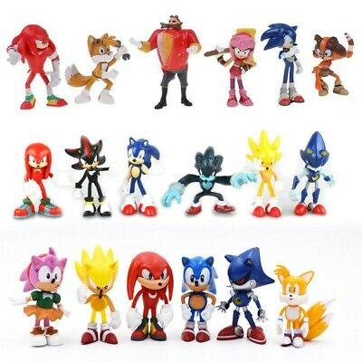 Sonic The Hedgehog Knuckles Shadow 6PCS Action Figure Cake Topper Kids Gift Toy • 9.95£