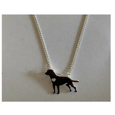 Labrador Pendant With 18  Chain Lovely Gift Free Gift Bag Incl Fast Free Post • 6.95£