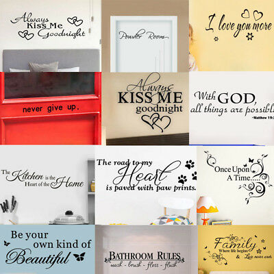 Bathroom Rules Art Wall Stickers Vinyl Removable Decals Mural Home Room Decor • 2.76£