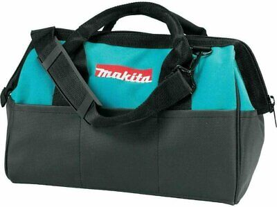 "MAKITA Contractor Tool Bag Storage Case Outside Pockets 14"" X 11"" X 9"" Strap • 11£"