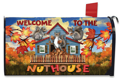 $16.99 • Buy Nuthouse Fall Magnetic Mailbox Cover Welcome Autumn Standard Briarwood Lane