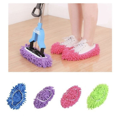 Dust Mop Slippers Lazy Floor Polishing Cleaning Socks Shoes Mop Novelty Gifts • 3.99£