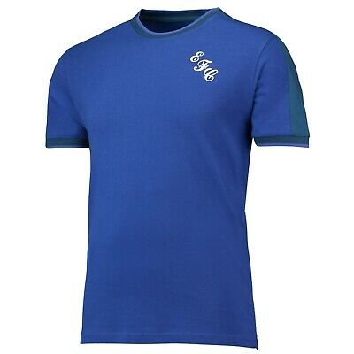 Everton FC Men's T-Shirt Football Heritage Stripe T-Shirt - Blue - New • 11.99£