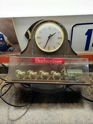 $ CDN160.01 • Buy 1982 Vintage Budweiser  Clydesdale Bar Clock