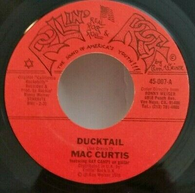 Mac Curtis  DUCKTAIL / SIDETRACK MAMA Featuring Ray Campi On Guitar 45 PLAYS VG+ • 6.54£