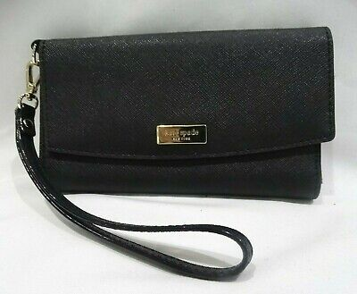 $ CDN32.67 • Buy Kate Spade Black Saffiano Leather Phone, ID & Card Wallet Wristlet Clutch Phone