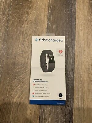 $ CDN100 • Buy Fitbit Charge 2 Heart Rate Fitness Sleep Tracker - Black - Large