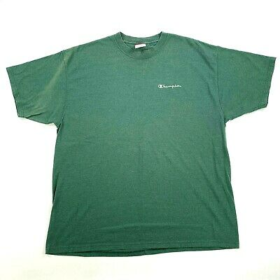 $ CDN16.40 • Buy Vintage Champion T-Shirt Size Large 90s C Logo Spell Out Forest Green Supreme