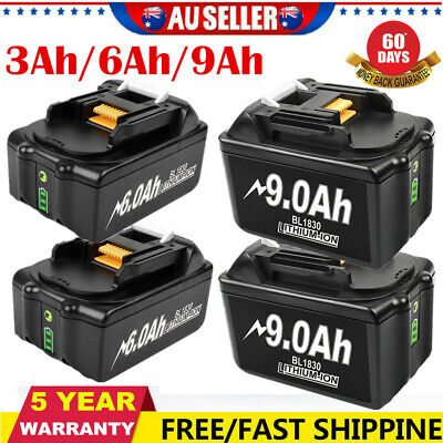 AU55.99 • Buy 18V 9.0Ah 6.0Ah 3.0Ah Lithium Battery For Makita LXT400 BL1850 BL1830 BL1860 AU