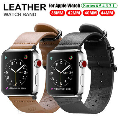 $ CDN11.85 • Buy For IWatch Apple Watch Series 6 SE 5 4 3 2 40/42/44mm Leather Wrist Band Strap
