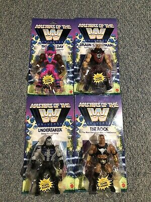 $94.45 • Buy Masters Of The WWE Universe The Rock Undertaker New Day Strowman Wave 3 Set Of 4