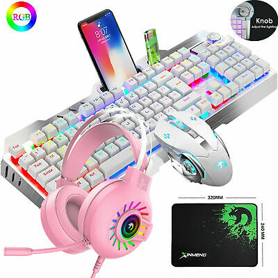 AU85.99 • Buy Gaming Keyboard Mechanical Keyboard And Wired Mouse Headset Four-piece Set RGB