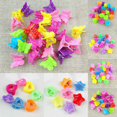 £2.69 • Buy 20/50PCS Butterfly Hair Clips Claw Barrettes Mini Shell Clip Hairpin Mixed Color