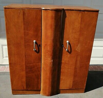 AU75 • Buy Australian Mid Century Vintage Solid Timber Wardrobe With Drawers With Keys