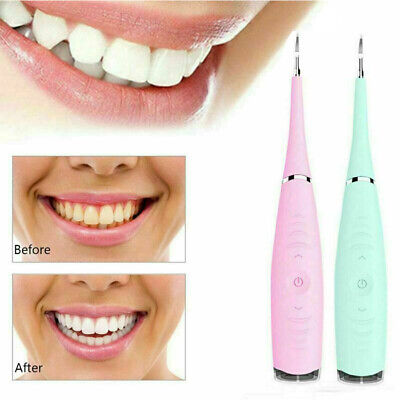 Electric Sonic Dental Scaler Plaque Tartar Calculus Remover Tooth Stains Tools# • 7.99£