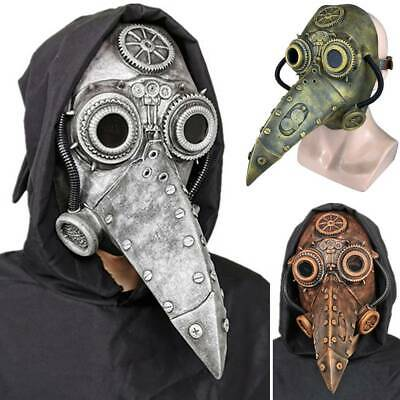 UK Plague Doctor Mask Halloween Costume Bird Long Nose Beak PU Leather Steampunk • 9.89£