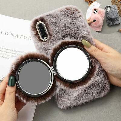 Soft Warm Plush Fluffy Phone Case Cover Comfy Faux Fur For IPhone XR 6s 7 8 Plus • 5.12£