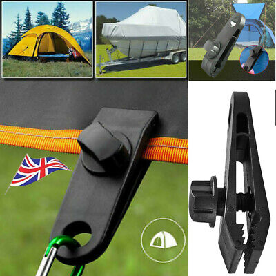 5-50Pcs Reusable Camping Clips Windproof Awning Clamp Tarp Snap Hanger Tent Clip • 4.29£