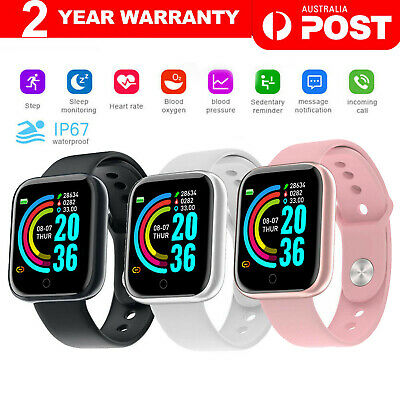 AU19.70 • Buy Smart Watch Bluetooth Heart Rate Blood Pressure IP67 Waterproof For IOS Android