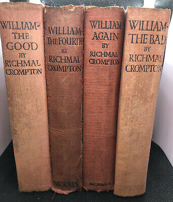4 X Just William Books By Richmal Crompton, Newnes Pre-1930 Inc. 1st Edition • 20£